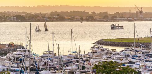 Fotomurales - Marina Bay in San Diego, California USA