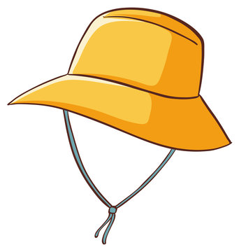 Yellow hat on white background