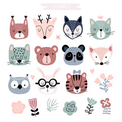 Kids clipart with cute animals