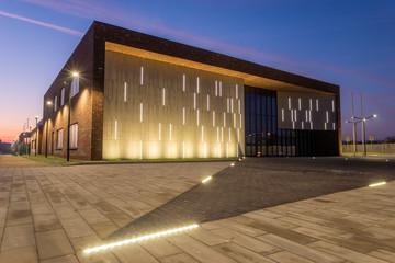 Szczecin, Poland-November 2019: A newly built municipal culture center in Szczecin as an example of modern public utility architecture