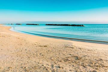 The beach of Montesilvano, Italy