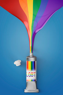 artistic lgbt painting colors