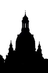 Frauenkirche Dresden im Schattenriss