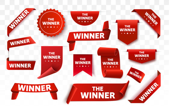 Winner tags isolated. Red banners