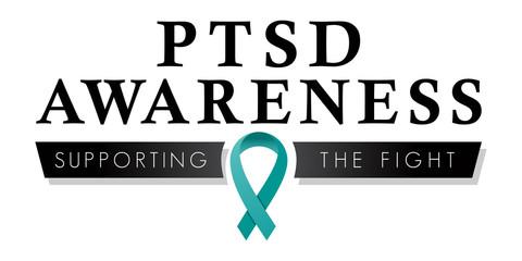 PTSD Awareness Ribbon | Post Traumatic Stress Disorder Logo | Vector Teal Ribbon