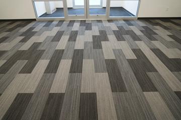 new installed carpet inside office building