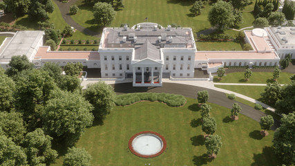 Wall Mural - White House Aerial View