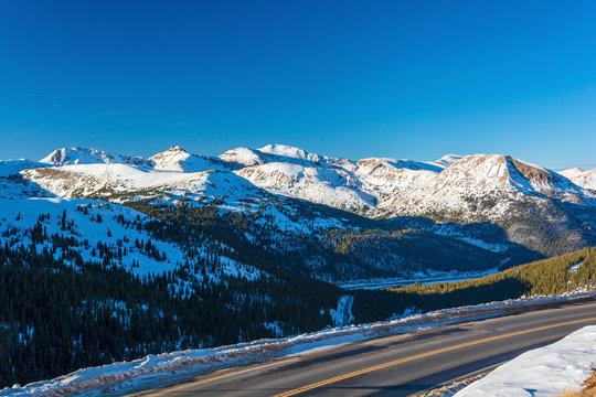 Loveland Pass and Hagar Mountain, Mount Trelease, The Citadel, Pettingell Peak, Mount Bethel, and Vasquez Peak in the Colorado Rockies