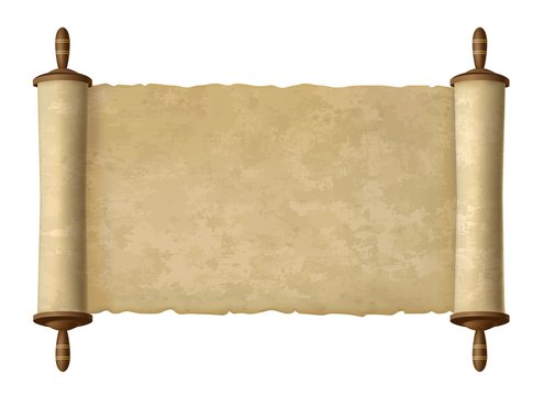 Antique papyrus scroll