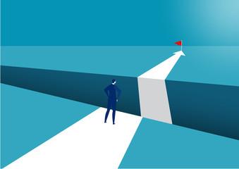 businessman walking forward success vector