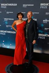 Sebastian Thrun and Doreen Xia attend the eighth annual Breakthrough Prize awards in Mountain View