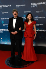 Dr. Gary Ruvkun and Natasha Staller attend the eighth annual Breakthrough Prize awards in Mountain View
