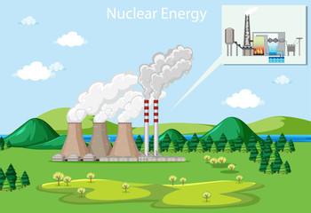 Scene showing nuclear energy