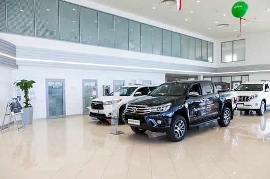 Inside in the office of official dealer Toyota