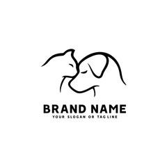 creative logo design Dog and Cat vector template