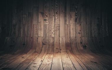 Obraz Old curved wooden background - fototapety do salonu
