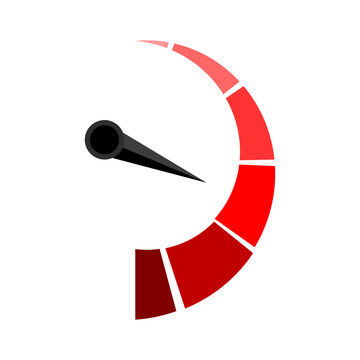 Vertical red indicator with arrow pointer