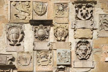 Antique coat of arms in Arezzo, Italy