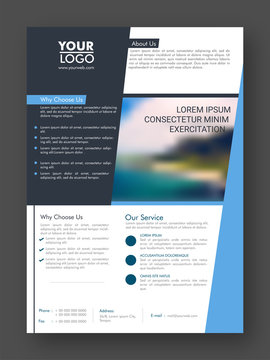 One Page Professional Business Flyer or Pamphlet.