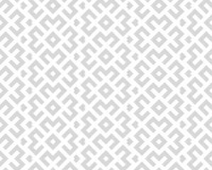 Foto op Canvas Geometrisch Abstract geometric pattern. A seamless vector background. White and grey ornament. Graphic modern pattern. Simple lattice graphic design.