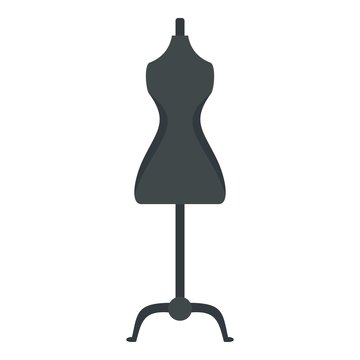 Sewing mannequin icon. Flat illustration of sewing mannequin vector icon for web design