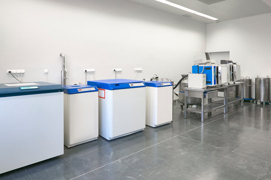 Hospital cryo fridges freezer area. Transplant treatment health care