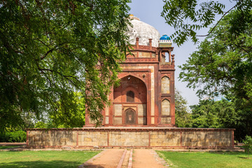 View on Barber's Tomb, side Building of Humayun Tomb Complex. UNESCO World Heritage in Delhi, India. Asia.