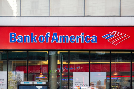 Bank of America entrance and logotype
