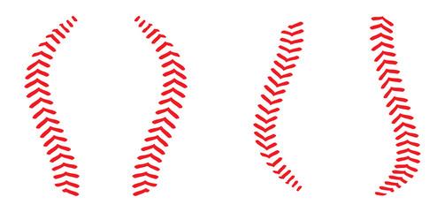 Baseball Laces (stitches) vector illustration