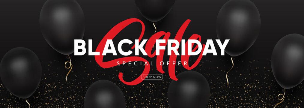 """Black Friday"" sale bannerfor social media. Eps10 vector template for website and mobile website development, email and newsletter design, marketing material."