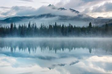 Tuinposter Wit Lake in Oregon
