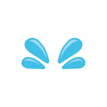 Water drop flat icon. Vector - Vector
