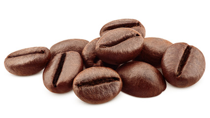 Papiers peints Café en grains coffee beans isolated on white background, clipping path, full depth of field