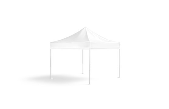 Blank white pop-up canopy tent mockup, isolated