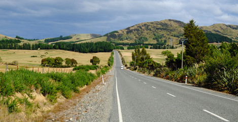 Southern Scenic road, Southland, New Zealand