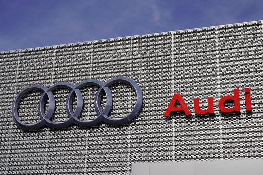 Audi dealership car sign logo shop German automobile manufacturer store