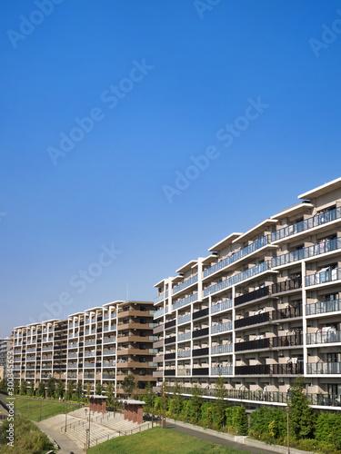 Fototapete 住宅街の大型マンション