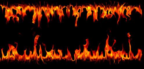 Hot fire flames