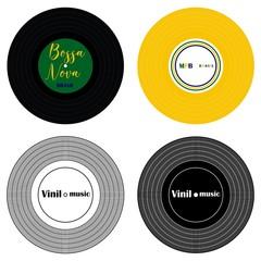 Vinil music colored