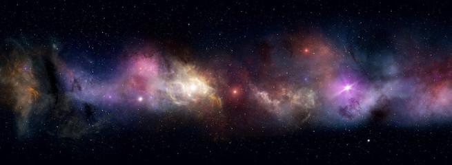 outer space star field