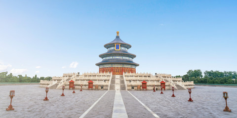 Aluminium Prints Peking The architectural scenery of the temple of heaven in Beijing, China