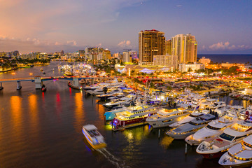Aerials of Fort Lauderdale boat show 2019