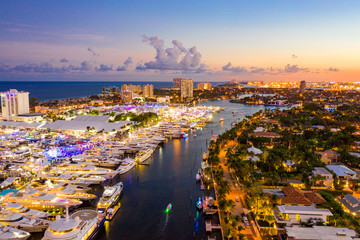Twilight photo Fort Lauderdale boat show 2019