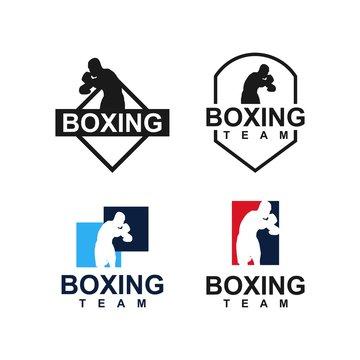 boxing logo template. Sport design creative vector