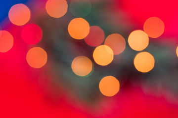 Purple Festive Christmas background. Elegant abstract background with bokeh defocused lights and...