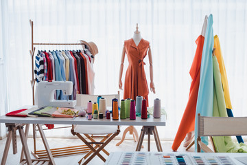 Workplaces of clothing designers of start up business.