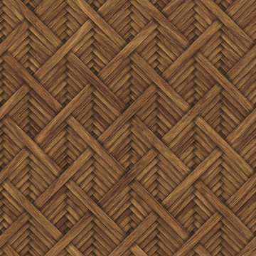 Carved geometric pattern on wood background seamless texture, diagonal stripes, cross pattern, 3d illustration