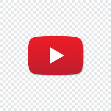 Youtube logo on a transparent background