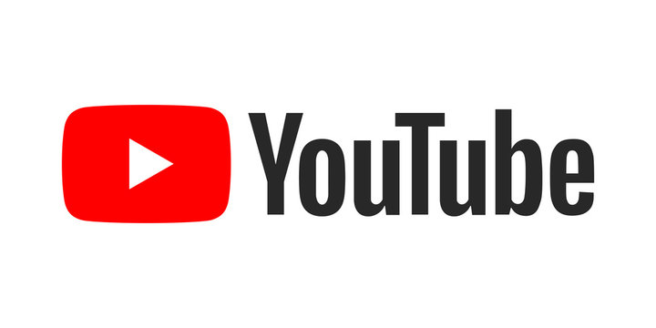 Youtube logo on a white background
