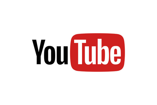 Youtube logo on a white background
